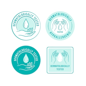 Blauwe antibacteriële logo-sjabloon