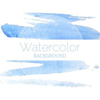 Blauwe aquarel achtergrond blauwe tekst. vector illustratie