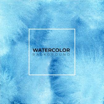 Blauwe aquarel achtergrond - verf op een papier textuur