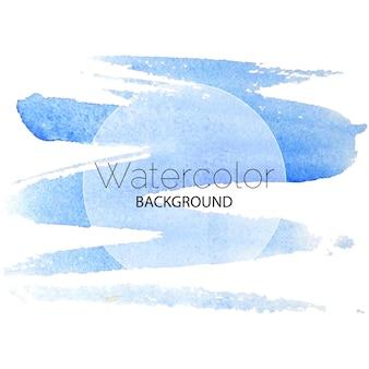 Blauwe aquarel achtergrond zwarte tekst witte cirkel. vector illustratie