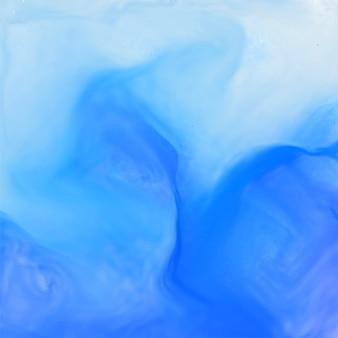 Blauwe aquarel inkt effect achtergrond