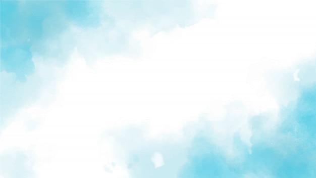 Blauwe aquarel splash webpagina scherm grootte achtergrond