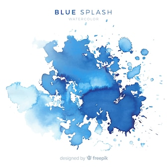 Blauwe aquarel splash