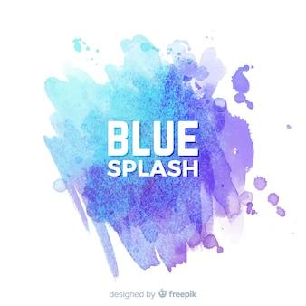 Blauwe aquarel splash
