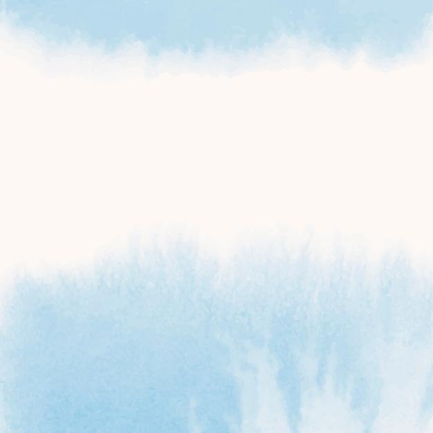 Blauwe aquarel stijl banner vector
