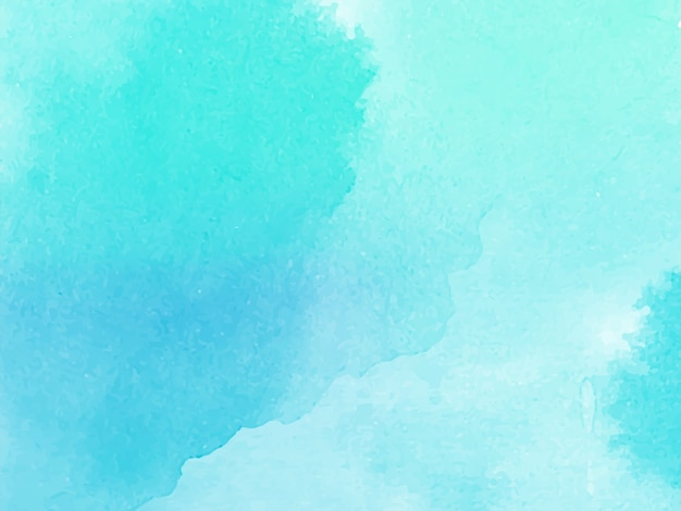 Blauwe aquarel textuur ontwerp achtergrond vector