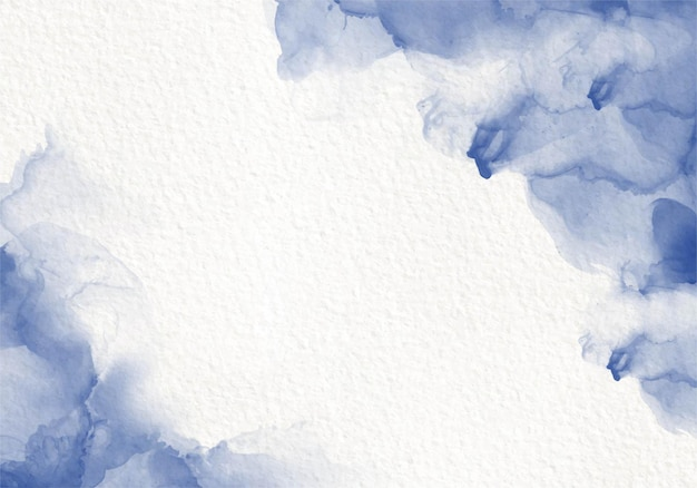 Blauwe aquarel vloeistof schilderij ontwerp kaart dye splash-stijl. alcohol inkt