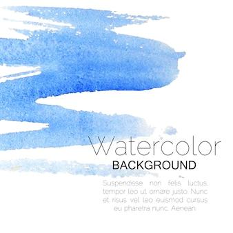 Blauwe aquarel zwarte achtergrondtekst. vector illustratie