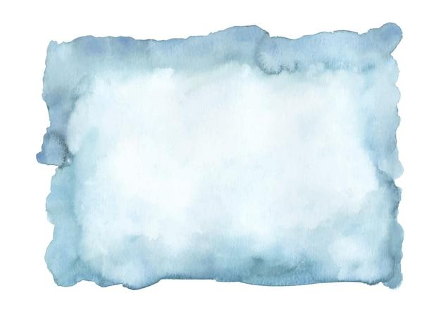 Blauwe azuurblauwe turquoise abstracte aquarel vlek.