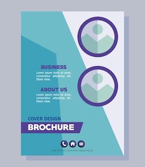 Blauwe bedrijfsbrochure
