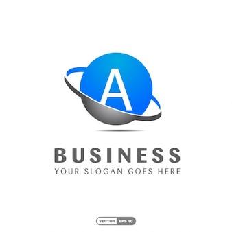 Blauwe bedrijfslogo