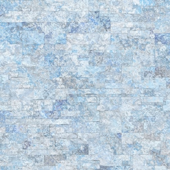 Blauwe betonnen muur