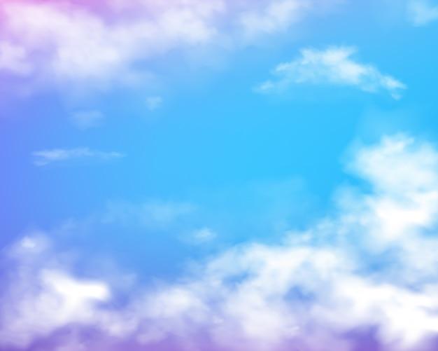 Blauwe bewolkte daglichtachtergrond voor weerontwerp