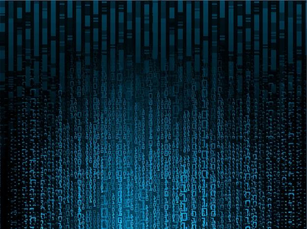 Blauwe binaire cyber kring toekomstige technologie concept achtergrond