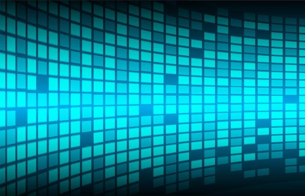 Blauwe bioscoop led scherm pixel
