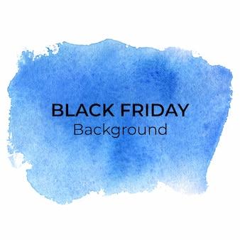 Blauwe blackfriday aquarel abstracte achtergrond