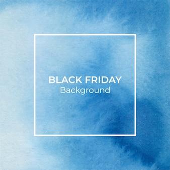 Blauwe blackfriday aquarel textuur abstracte achtergrond