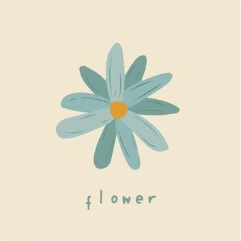 Blauwe bloemen symbool bloemen vectorillustratie