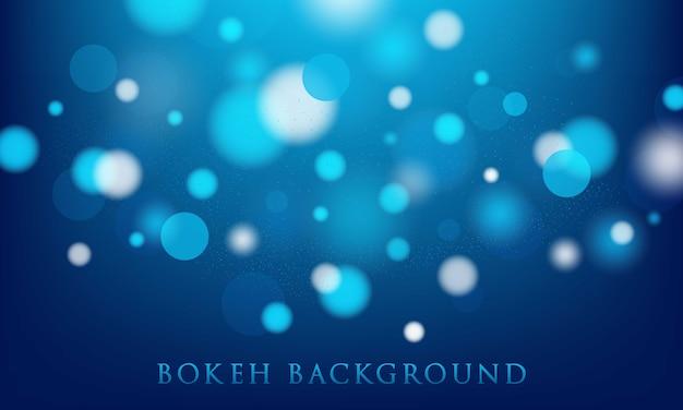 Blauwe bokehachtergrond, abstracte, lichte textuur
