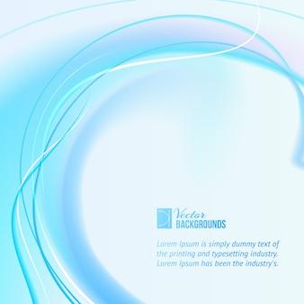 Blauwe bol golven abstracte achtergrond met tex voorbeeldsjabloon