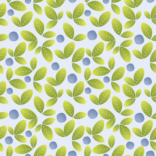 Blauwe bosbes naadloze patroon achtergrond