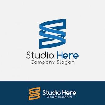 Blauwe brief s logo