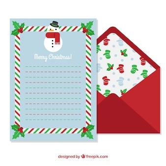 Blauwe brieven sjabloon en rode envelop