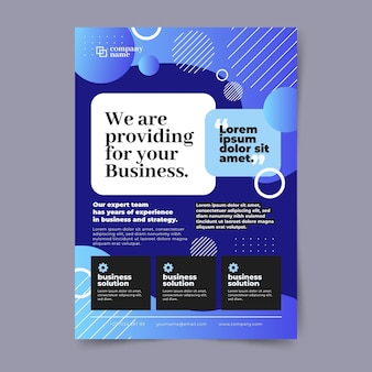 Blauwe business flyer-sjabloon