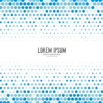 Blauwe cirkel halftone patroon achtergrond