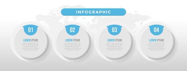 Blauwe cirkel zakelijke infographic sjabloon