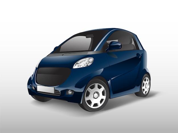 Blauwe compacte hybride auto vector