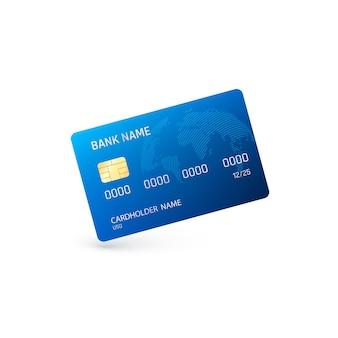 Blauwe creditcard illustratie