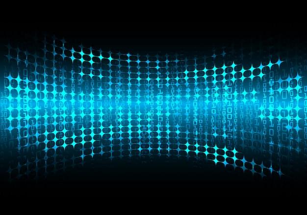 Blauwe cyber circuit toekomstige technologie concept achtergrond, geleid