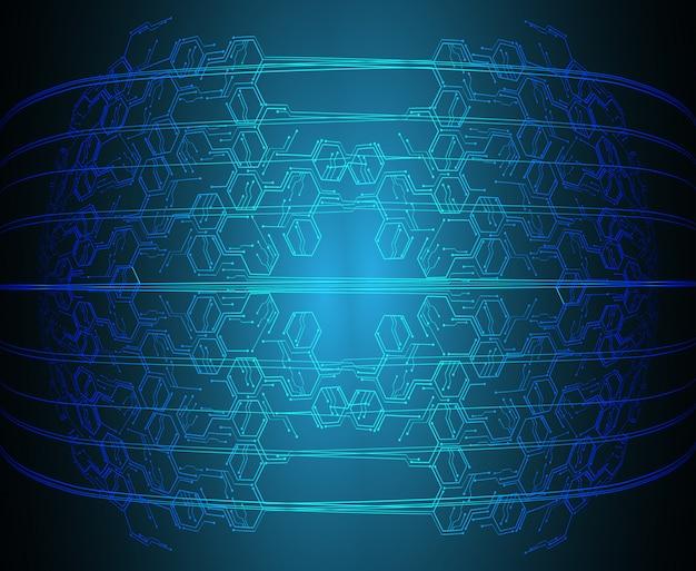 Blauwe cyber circuit toekomstige technologie concept achtergrond