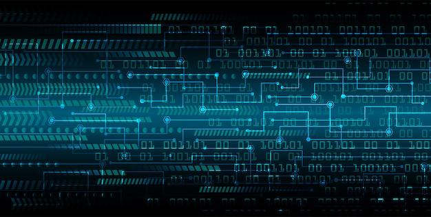 Blauwe cyber kring toekomstige technologie concept achtergrond