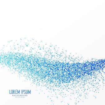 Blauwe deeltjes golf effect achtergrond ontwerp