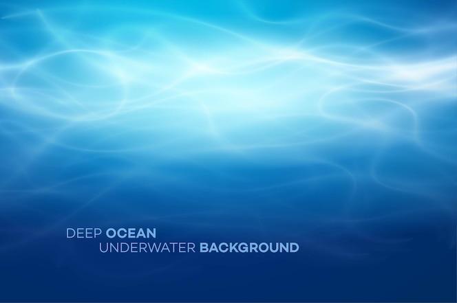 Blauwe diep water en zee abstracte natuurlijke achtergrond
