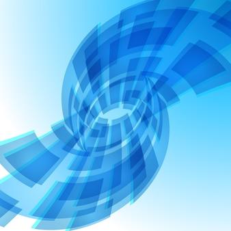 Blauwe digitale achtergrond illustratie voor creatief ontwerp