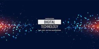 Blauwe digitale deeltjes gloeiende achtergrond