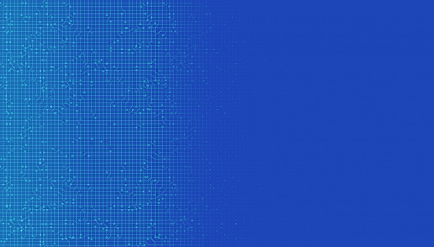 Blauwe digitale netwerksysteemtechnologieachtergrond, lijnverbinding en internetconceptontwerp, illustratie.