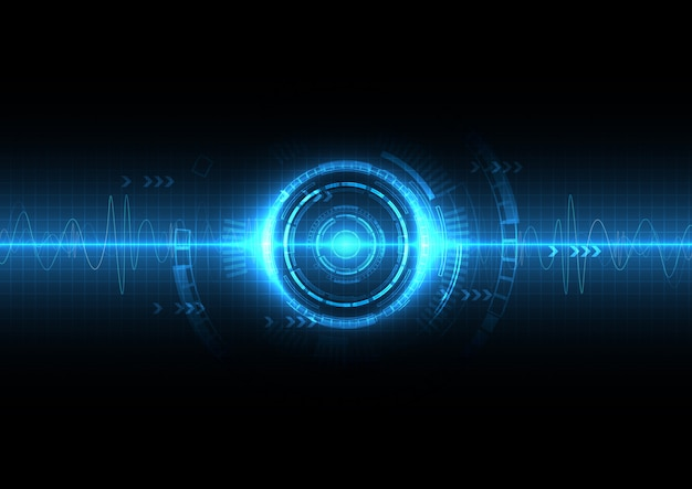 Blauwe digitale soundwave achtergrond