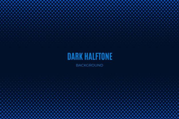 Blauwe donkere halftone achtergrond