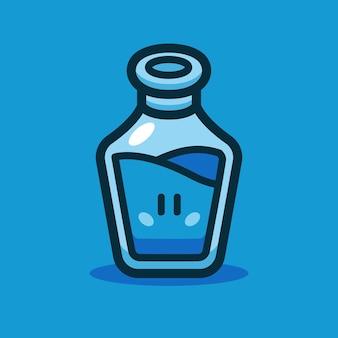 Blauwe drankje cartoon vectorillustratie