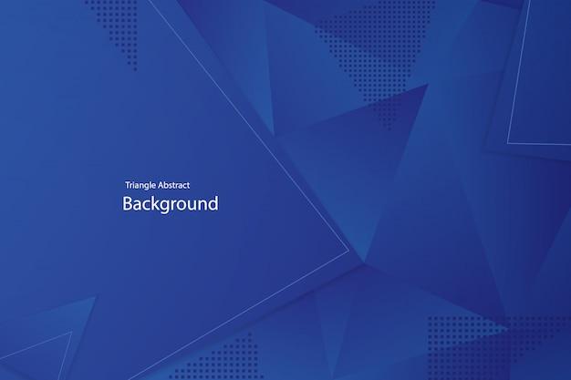 Blauwe driehoek abstracte achtergrond