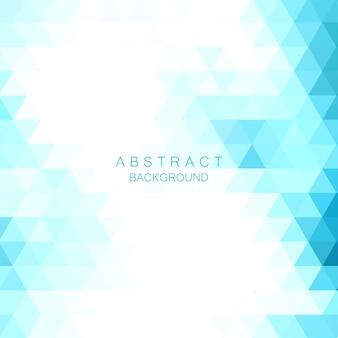 Blauwe driehoek mozaïek, abstracte achtergrond, creatieve ontwerpsjablonen