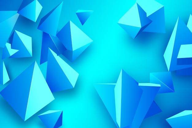 Blauwe driehoeksachtergrond met levendige kleuren