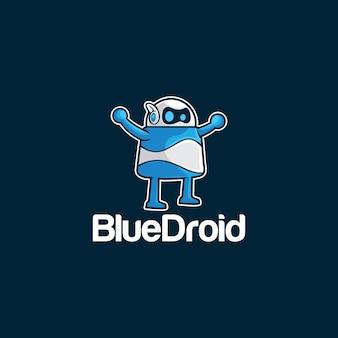 Blauwe droid