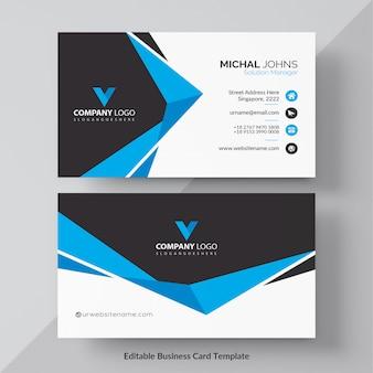 Blauwe elegante bedrijfskaart gratis vector