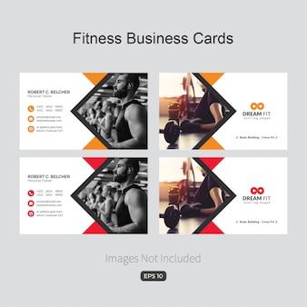 Blauwe elegante bedrijfskaart voor fitness