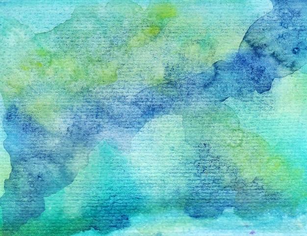 Blauwe en groene abstracte aquarel achtergrond